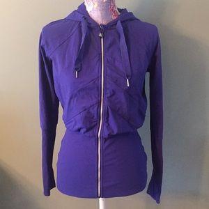 Lululemon size 4 royal blue zip up hooded jacket